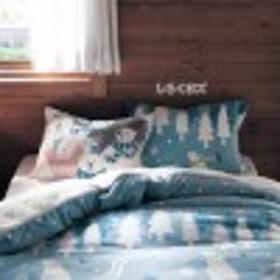 アニマルプリントの枕カバー2枚セット