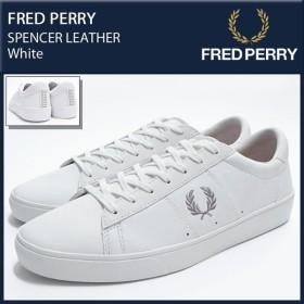 フレッドペリー FRED PERRY スニーカー メンズ 男性用 スペンサー レザー White(FREDPERRY B8221-200 SPENCER LEATHER ホワイト)