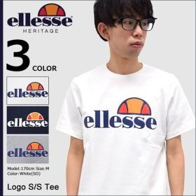 エレッセ ヘリテー Tシャツ 半袖 ellesse HERITAGE メンズ ロゴ(EE17100 Logo S/S Tee カットソー トップス 男性用)