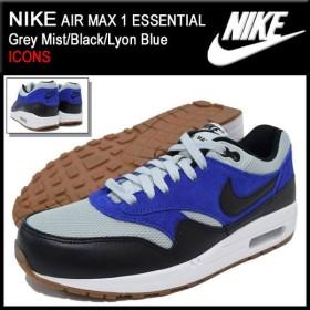 ナイキ NIKE スニーカー エア マックス 1 エッセンシャル Grey Mist/Black/Lyon Blue 限定 メンズ(男性用) (AIR MAX 1 ICONS 537383-022)