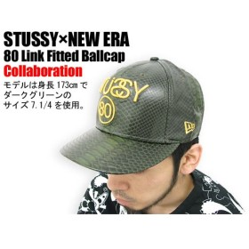STUSSY(ステューシー)×NEW ERA 80 Link Fitted Ballcap コラボ
