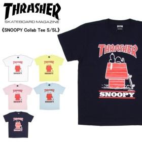 スラッシャー×ピーナッツ スヌーピー コラボTシャツ SNOOPY Collab Tee S/SL  thpn-sst003  メンズ 半袖 Tシャツ[AA-2]