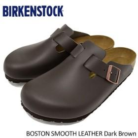 ビルケンシュトック BIRKENSTOCK サンダル メンズ 男性用 ボストン スムース レザー Dark Brown(BOSTON SMOOTH LEATHER GC060101)