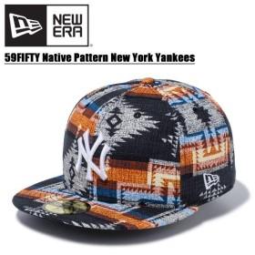 ニュー エラ NEW ERA  59FIFTY ネイティブパターン ニューヨーク・ヤンキース  MLB キャップ 帽子 男性用 [BB]
