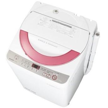 ES-GE60R-P シャープ 全自動洗濯機 樹脂まるごと抗菌穴なし槽 6kg ピンク系