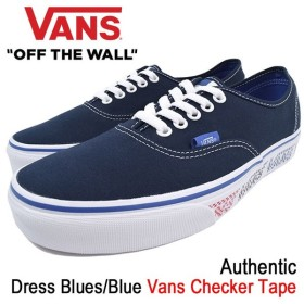 バンズ VANS スニーカー メンズ 男性用 オーセンティック Dress Blues/Blue バンズ チェッカー テープ(VN-0A38EMMQO Authentic Checker Tape)