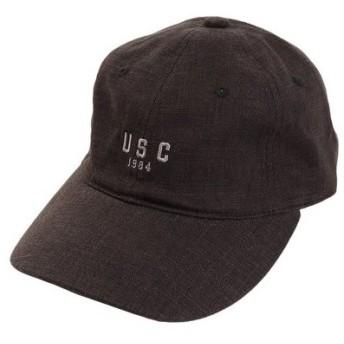 PGAC(PGAC) リネン刺繍 USC キャップ 897PA9ST1672 BLK (Men's)