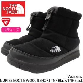 ザ ノースフェイス THE NORTH FACE ブーツ レディース 女性用 ウィメンズ ヌプシ ブーティー ウール 2 ショート TNF Black(NFW51787-KK)