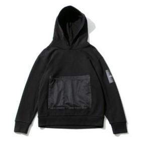 【セール】ワイルドシングス ロングスリーブフーディー ウイズメッシュ 【WT19010N】 Mサイズ ブラック