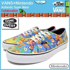 バンズ VANS スニーカー メンズ 男性用 ニンテンドー オーセンティック Super Mario コラボ(VN-0004MLJPA VANS×Nintendo Authentic)