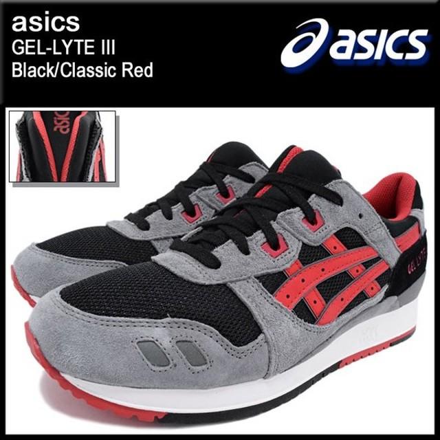 アシックス asics スニーカー メンズ 男性用 ゲルライト 3 Black/Classic Red(ASICS Tiger アシックスタイガー GEL-LYTE III H635L-9023)