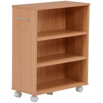 本棚 書棚 隙間収納 スライド 幅26cm 高さ68cm ナチュラル 隙間本棚 スライド本棚 クローゼット本棚 クローゼットラック 隙間ワゴン 隙間棚 スリム 隙間