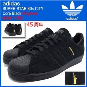 アディダス adidas スニーカー スーパースター 80s シティー Core Black ニューヨーク オリジナルス メンズ(男性用)(NEW YORK 45周年 B32737)