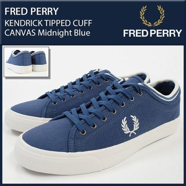 フレッドペリー FRED PERRY スニーカー メンズ 男性用 ケンドリック ティップ カフ キャンバス Midnight Blue(B5210U-963 KENDRICK TIPPED)