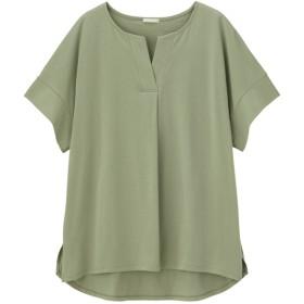 (GU)スキッパーオーバーサイズT(5分袖) GREEN M