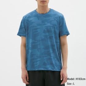 (GU)クルーネックT(半袖)(ドットカモフラ)GS BLUE XL