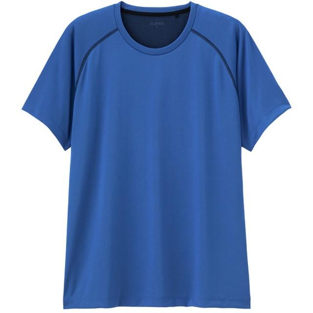 (GU)クルーネックT(半袖)(ステッチ)GS BLUE M