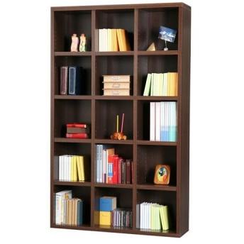 本棚 大容量 シェルフ 幅110cm 高さ180cm ダークブラウン 書棚 ブックシェルフ A4フォルダ 棚 コミック収納 CD収納 DVD収納 CD DVD 漫画 マンガ まんが 幅1100