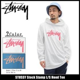 ステューシー STUSSY カットソー 長袖 メンズ Stock Stamp(stussy Hood Tee トップス フード付きTシャツ 男性用 1983888)