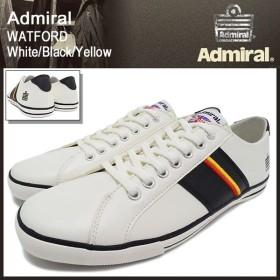 アドミラル Admiral スニーカー ワトフォード ホワイト/ブラック/イエロー メンズ男性用(watford white/black/yellow SJAD0705-010207)