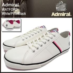 アドミラル Admiral スニーカー ワトフォード ホワイト/ピンク/ブラック メンズ男性用(watford white/pink/black SJAD0705-011302)