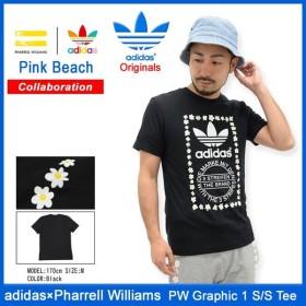 アディダス オリジナルス×ファレル・ウィリアムス adidas Originals = PHARRELL WILLIAMS Tシャツ 半袖 メンズ PW グラフィック 1(AO3000)