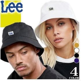 リー Lee バケットハット 帽子 サファリハット メンズ レディース ワンポイント ロゴ カジュアル 黒 白 ブラック ホワイト ネイビー デニム 100176311