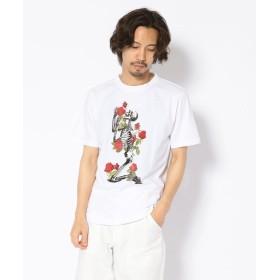 【68%OFF】 エルエイチピー MADDICT/マディクト/ルーズシルエット スカルプリントTシャツ メンズ WHITE S 【LHP】 【セール開催中】
