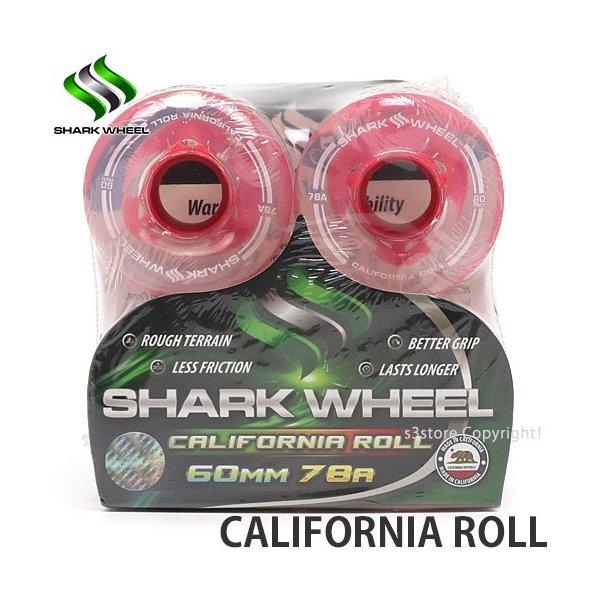 60MM 78A Clear w// Pink Hub California Roll SHARK WHEEL