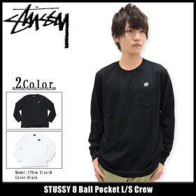 ステューシー STUSSY カットソー 長袖 メンズ 8 Ball Pocket(stussy crew トップス ポケット メンズ・男性用 114879)