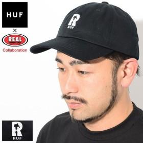 ハフ キャップ HUF メンズ リアル スケートボード リアル ハフ ハイドラント カーブ バイザー(REAL SKATEBOARDS Real Huf Cap HT00391)