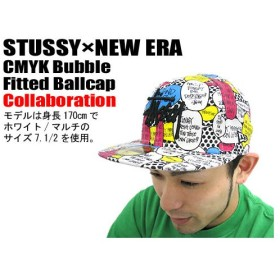 STUSSY(ステューシー)×NEW ERA CMYK Bubble Fitted Ballcap コラボ