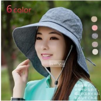 帽子 レディース スカラハット サイズ調節 ツバ広ハット UV対策 紫外線対策帽子 シルエット帽子 登山 顔面サンバイザー 日焼け