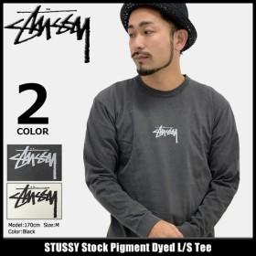 ステューシー STUSSY Tシャツ 長袖 メンズ Stock Pigment Dyed(stussy tee カットソー トップス ロンt 男性用 1994088)