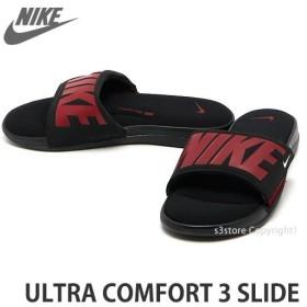 ナイキ ウルトラ コンフォート スライド NIKE URTRA COMFORT 3 SLIDE サンダル シャワーサンダル メンズ カラー:ブラック/ジムレッド/WHITE