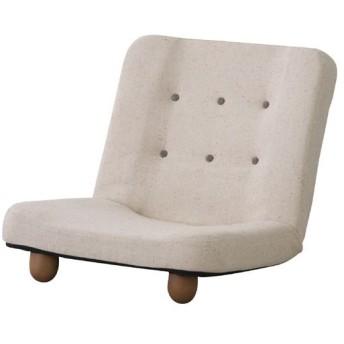 座椅子 リクライニング ソファー 一人掛け 完成品 ファブリック 脚付き 1人掛けリクライニングソファ 幅65cm 布張 スマート ベージュ リクライニングソファ