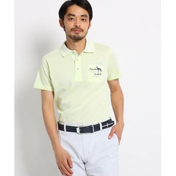 【SALE(三越)】<アダバット/adabat> 胸ポケット付きミニチェック半袖ポロシャツ メンズ(2001514680) カーキ 【三越・伊勢丹/公式】
