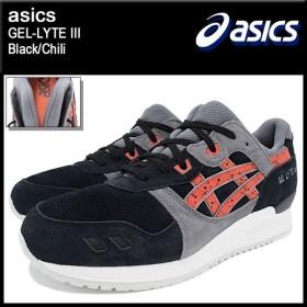 アシックス asics スニーカー メンズ 男性用 ゲルライト 3 Black/Chili(ASICS Tiger アシックスタイガー GEL-LYTE III H6B2L-9024)