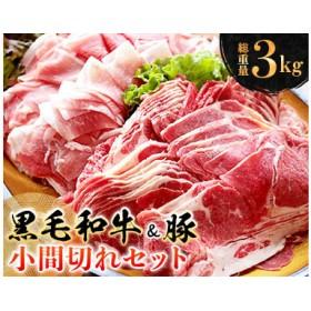 〈黒毛和牛&豚〉小間切れセット(総重量3kg)