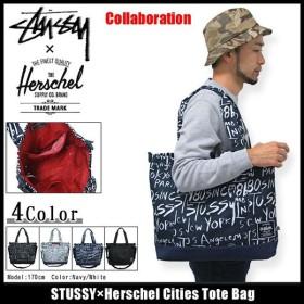ステューシー STUSSY×Herschel Cities トートバッグ コラボ(stussy tote bag トートバッグ ハーシェル Wネーム メンズ・男性用 134109)