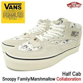 バンズ VANS スニーカー メンズ 男性用 ピーナッツ ハーフキャブ Snoopy Family/Marshmallow コラボ(VN-0A348EQV3 VANS×PEANUTS Half Cab)