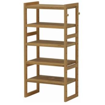 下駄箱 シューズボックス 木製 オープンシューズラック 幅45cm 高さ92cm ライトブラウン オープンラック 木製ラック マルチラック シューズラック 棚 本棚