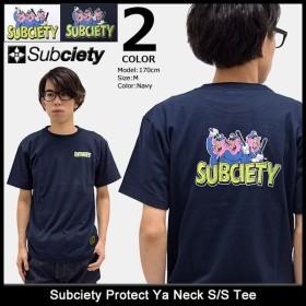 サブサエティ Subciety Tシャツ 半袖 メンズ プロテクト ヤー ネック(subciety Protect Ya Neck S/S Tee カットソー トップス)