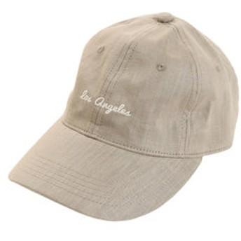 【Super Sports XEBIO & mall店:帽子】リネン刺繍キャップ Los A 897PA9ST1700 KHK