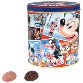 缶入り チョコレート クランチ (キャラ写真風柄) ミルク&ストロベリー ディズニー お菓子 チョコ ミッキー ミニー ドナルド 他 リゾート限定