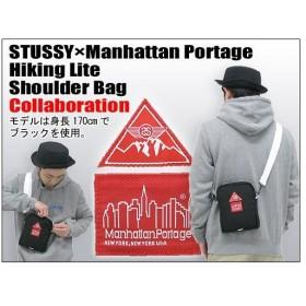ステューシー STUSSY×Manhattan Portage Hiking Lite ショルダーバッグ コラボ(stussy bag ショルダーバッグ Wネーム メンズ男性用 034595)