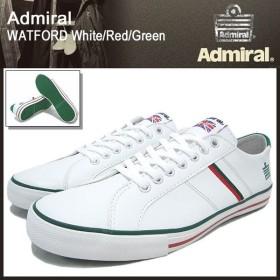 アドミラル Admiral スニーカー ワトフォード ホワイト/レッド/グリーン メンズ男性用(watford white/red/green SJAD0705-010406)