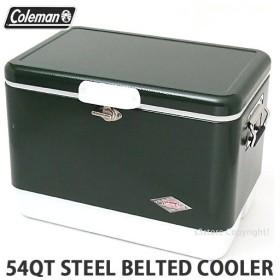 コールマン スチールベルト クーラー COLEMAN 54QT STEEL BELTED COOLER クーラーボックス アウトドア キャンプ カラー:GREEN サイズ:54QT