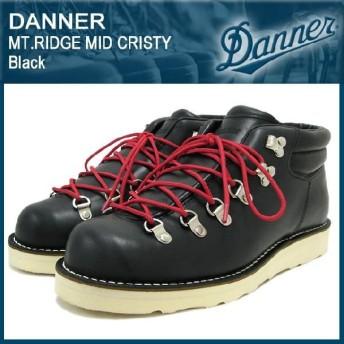 ダナー Danner マウンテンリッジ・ミッド・クリスティー ブーツ 黒レザー(Danner DANNER D-4026-BK MT.RIDGE MID CRISTY Black ダナー ブーツ)