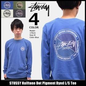 ステューシー STUSSY Tシャツ 長袖 メンズ Halftone Dot Pigment Dyed(stussy tee カットソー トップス ロンt 男性用 1994049)